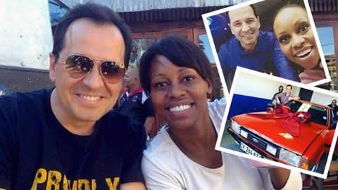 Elana Afrika buys husband Brendenkamp Ian classic car