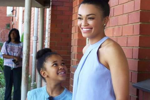 Pearl Thusi and daughter Thandolwethu Mokoena