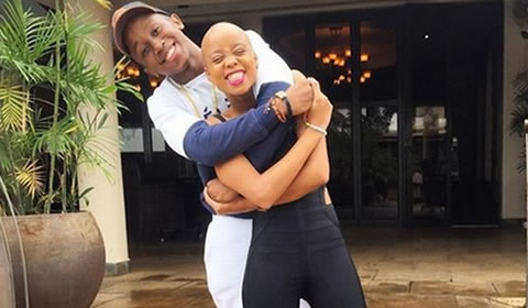 Ntando Duma and Boyfriend Junior de Rocka
