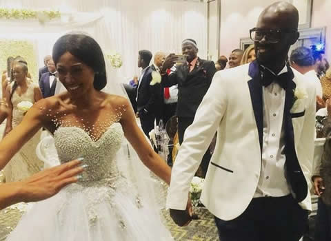 Black Coffee and Enhle Mbali Mlotshwa's wedding