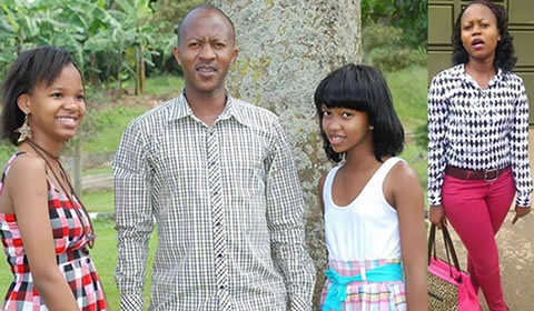 Sheila Gashumba's father and sisters Celine Gashumba and Catherine Muteesi Gashumba